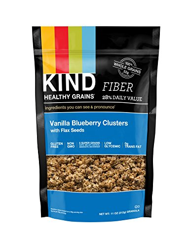 Low Fat Granola - KIND Healthy Grains Clusters, Vanilla Blueberry with Flax Seeds Granola, 10g Protein, Gluten Free, Non GMO, 11 Ounce Bags, 3 Count