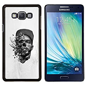 Qstar Arte & diseño plástico duro Fundas Cover Cubre Hard Case Cover para Samsung Galaxy A7 A7000 (Abstract Skull Explosion)