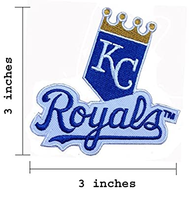 Kansas City Royals Logo Embroidered Iron On Patch.
