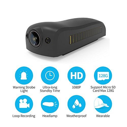 IDV Action Camera Sport DV Hat Brim Camera Mini Headlamp Cam 1080P HD Sport DV Outdoor Camcorder Wide Angle Lens Clip On Cap by IDV