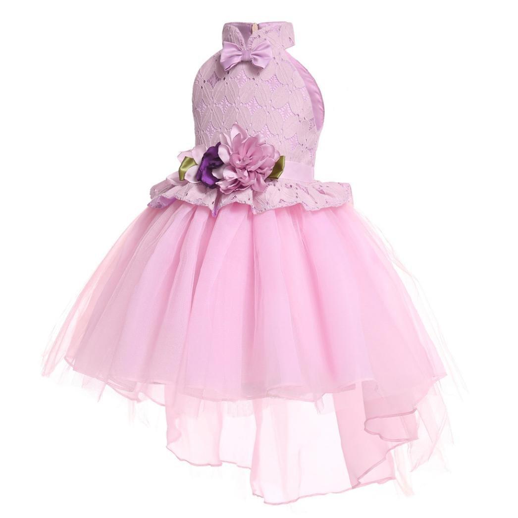 fff7ef922 Bebé Bebé 7 años PAOLIAN Vestidos de Fiestas para niñas Manga Larga Otoño  2018 Falda mullida Princesa Boda ...