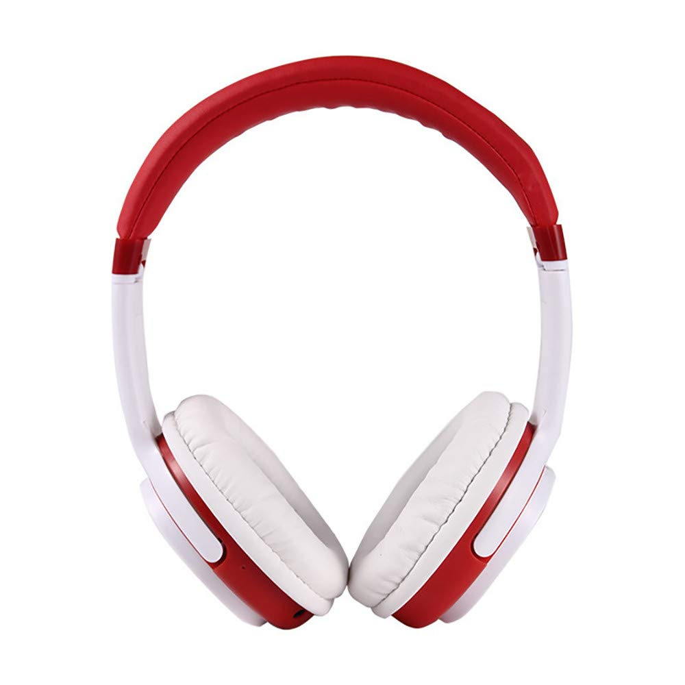 Wireless Bluetooth 4.1 Headphones DBHAWK Over-Ear Headset Noise Cancelling Earphone with FM Radio (Red)