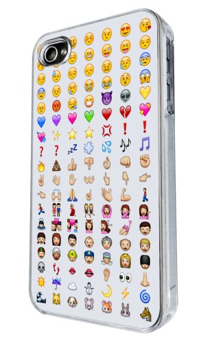 iphone 4 4S Cool Smiley Faces emoji Funky Design Fashion Trend Hülle Case Back Cover Metall und Kunststoff