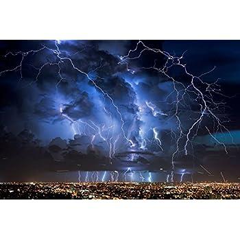 Amazon Com Clouds Waves Sea Storm Lightning Ocean Art