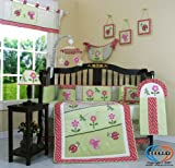 Boutique Brand New GEENNY Girl LadyBug 13PCS CRIB BEDDING SET