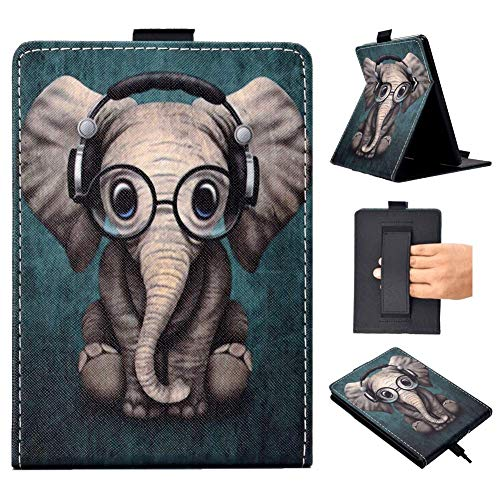 Kindle Paperwhite Case, LRVLML Stand Folio Cover Smart Case with Auto Wake/Sleep & Hand Strap Fits All Paperwhite Generations(Compatible Kindle Paperwhite 10th Gen 2018 Release) - Elephant