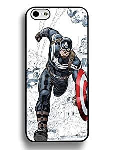 6832602M619736813 Iphone 6 Plus 5.5 Inch Case, Incredible Captain America Theme Hard Plastic Case Cover for Iphone 6 Plus (5.5 Inch), [Scratch Resistant] for Girls