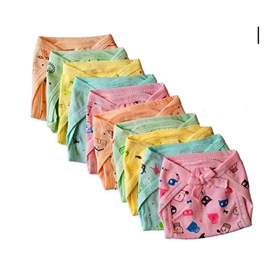 Aman Artis Newborn Baby Washable Reusable Kids Hosiery Cotton Cloth Nappies|Cloth Diaper/Langot Pack (0 to 6 Months) Multicolor (Assorted)