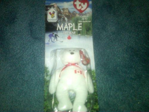 Mcdonalds House Ronald Mcdonald (Ty RARE Collectible Maple the Bear Beanie Baby! Ronald Mcdonald House Charities NEW)
