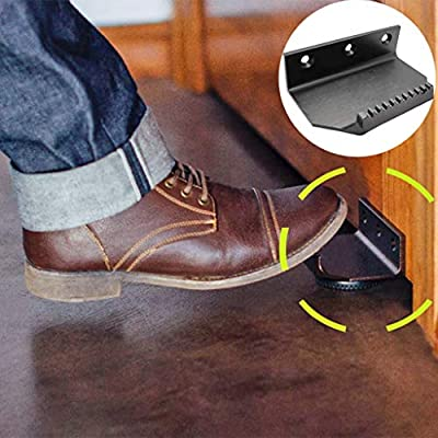 Hopeg Touchless Hands Free Foot Door Opener, Thick Metal Bracket - Avoid Pollution That May Be On Public Doorhandles Open Public Bathroom Doors with Your Foot (Black): Kitchen & Dining