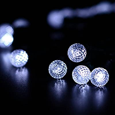 Qedertek 50 LED Battery Operated Christmas Lights, 13.1ft Diamond Fairy String Lights for Home, Garden, Patio, Lawn and Party Decoration
