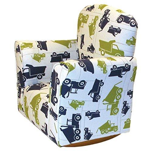 Brighton Home Furniture Toddler Rocker in Dump Truck Printed Cotton
