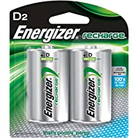 Baterías recargables D energizer, NiMH, 2500 mAh, 2 conteos
