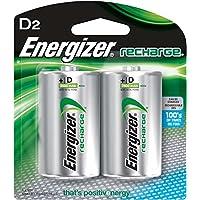 Energizer NH50BP-2 Nickel-Metal Hydride (NiMH) 2500mAh 1.2V batería recargable - Batería/Pila recargable (2500 mAh, Níquel-metal hidruro (NiMH), 1.2 V, Plata, 2 pieza(s))