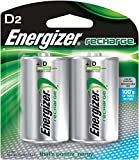 Energizer Rechargeable D Batteries, NiMH, 2500 mAh, 2 count