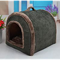 Vabell Herbst und Winter Hundebett Katzenbett Tragbar Outdoor/Indoor Hundehöhle Hundehütte