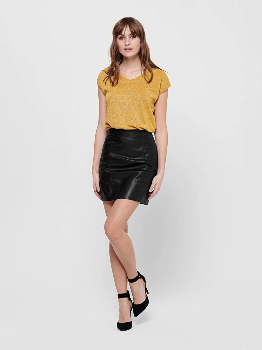 Only Onlsky Faux Leather Skirt CC Otw Gonna Donna