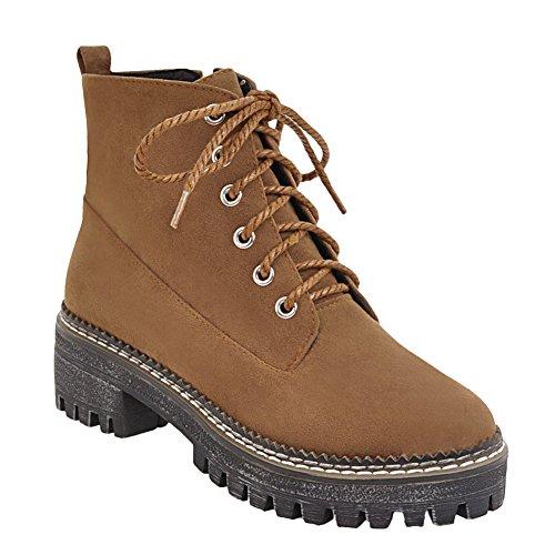 Womens Dark Heels Chunky Boots Yellow Latasa Ankle Womens Latasa Oxford Chunky Heels 7wqI7v6