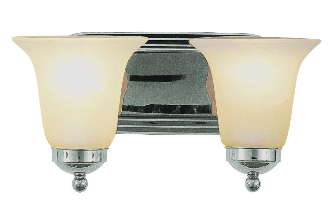 Trans Globe Lighting 3502 PC Indoor Rusty 14'' Vanity Bar, Polished Chrome