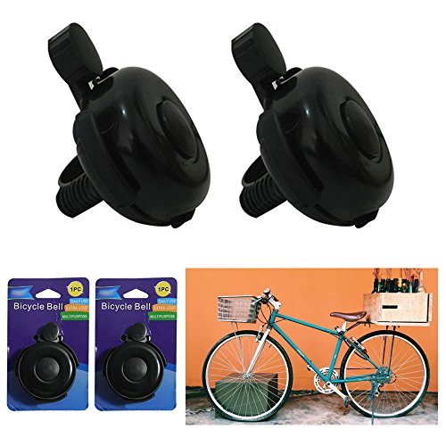 2 Bicycle Bell Bike Handlebar Bell Ring Loud Horn Cycling Black Classic (Classic Two Handlebar)