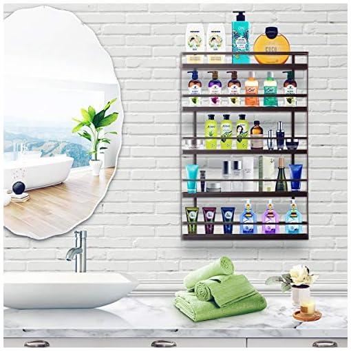 Kitchen 5 Tier Large Spice Rack Organizer Wall Mount – Hanging Seasoning Shelf Holder for Kitchen Cabinet Cupboard Pantry Door spice racks