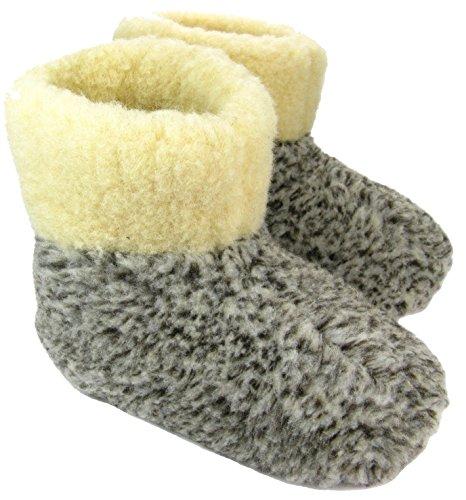 Leather Of Antiscivolo Unisex Suola Lana Uomo World Pantofole Grigio Inverno Ciabatte Donna Ole qv51dx