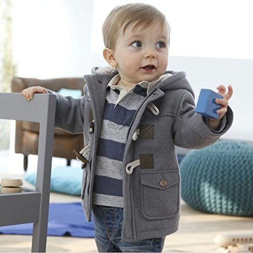 Jinru01 Fashion winter children kids baby boys infant outerwear coat baby kids...