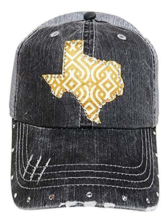 Ikat Fabric Rhinestone Texas Patch W Swarovski Crystals On