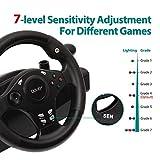 Gaming racing wheel, 270 degree driving force