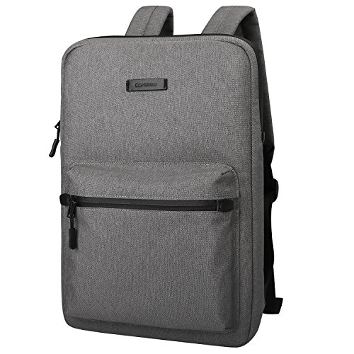 Ultra-Thin Laptop Backpacks, Cartinoe Canvas Lightweight Backpack for Girls School Rucksack Women Men College Bookbag, 13 14 15 inch Chromebook Laptop Bag for Macbook Touchbar 15 Pro Sleeve Case, Gray