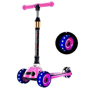 HYE-Patinete Kick Scooter para niños pequeños Scooter de 3 Ruedas Deluxe Aluminio T-