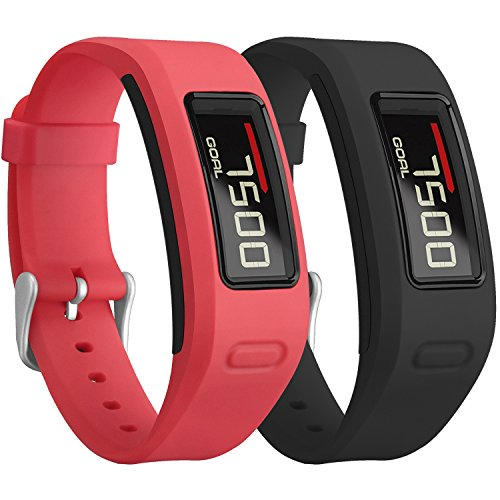 Garmin Vivofit Bands, SKYLET Colorful Silicone Replacement Band for Garmin Vivofit 1 Wristband with Metal Buckle (No Tracker)[2PC: - Rb Number Tracking