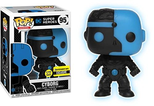 Funko Pop! Vinyl Justice League Cyborg Silhouette Glow in the Dark Entertainment Earth Exclusive Dark Silhouette