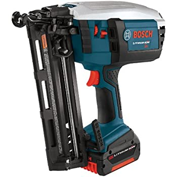 Bosch Fnh180k 16 18 Volt Lithium Ion 16 Gauge Finish Nailer Kit With Battery Charger