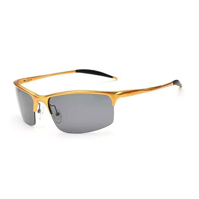 queentoo Disco gafas polarizadas gafas de sol nuevo diseño para hombres Silver Gold