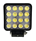 "SiteLites Single 4"" LED Light 48W 3000LM 30° AMBER LED Spot Beam Lights for Off-Road and Outdoor Applications"