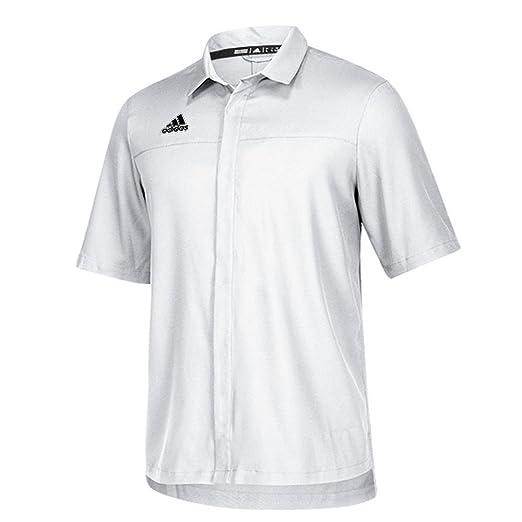 16f33a3991481 adidas Team Iconic Full Button Polo Men's Multisport XL White-Onix ...