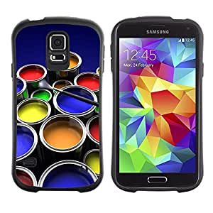 Suave TPU GEL Carcasa Funda Silicona Blando Estuche Caso de protección (para) Samsung Galaxy S5 / CECELL Phone case / / Painting Kit Art Drawing Color Pots Design /