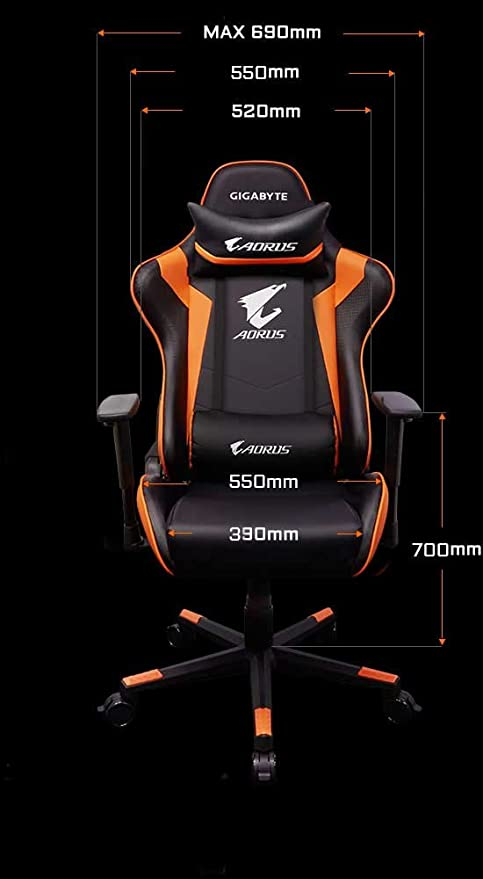 Gigabyte Technology Gaming Chair GBT AORUS AGC 300: Gigabyte: Amazon.es: Electrónica