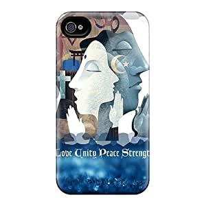 AfDmykM5893sRSDQ Mialisabblake Awesome Case Cover Compatible With Iphone 4/4s - Love Unity Peace