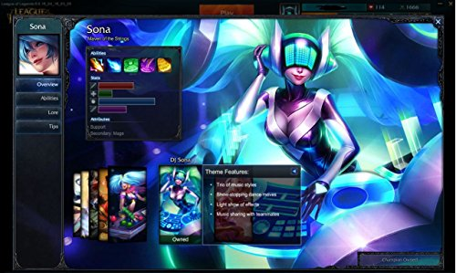League of legends account level 30 NA 108 Champion, Plat 1 God MMR, 1600+ Honor, 20 full rune page, DJ sona + - Account Store
