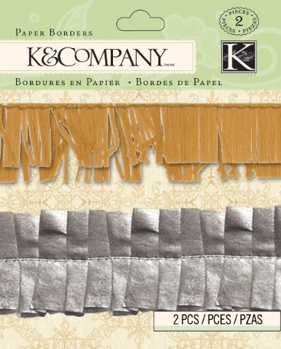 K&Company Beyond Postmarks Collection Metallic Paper Border ()
