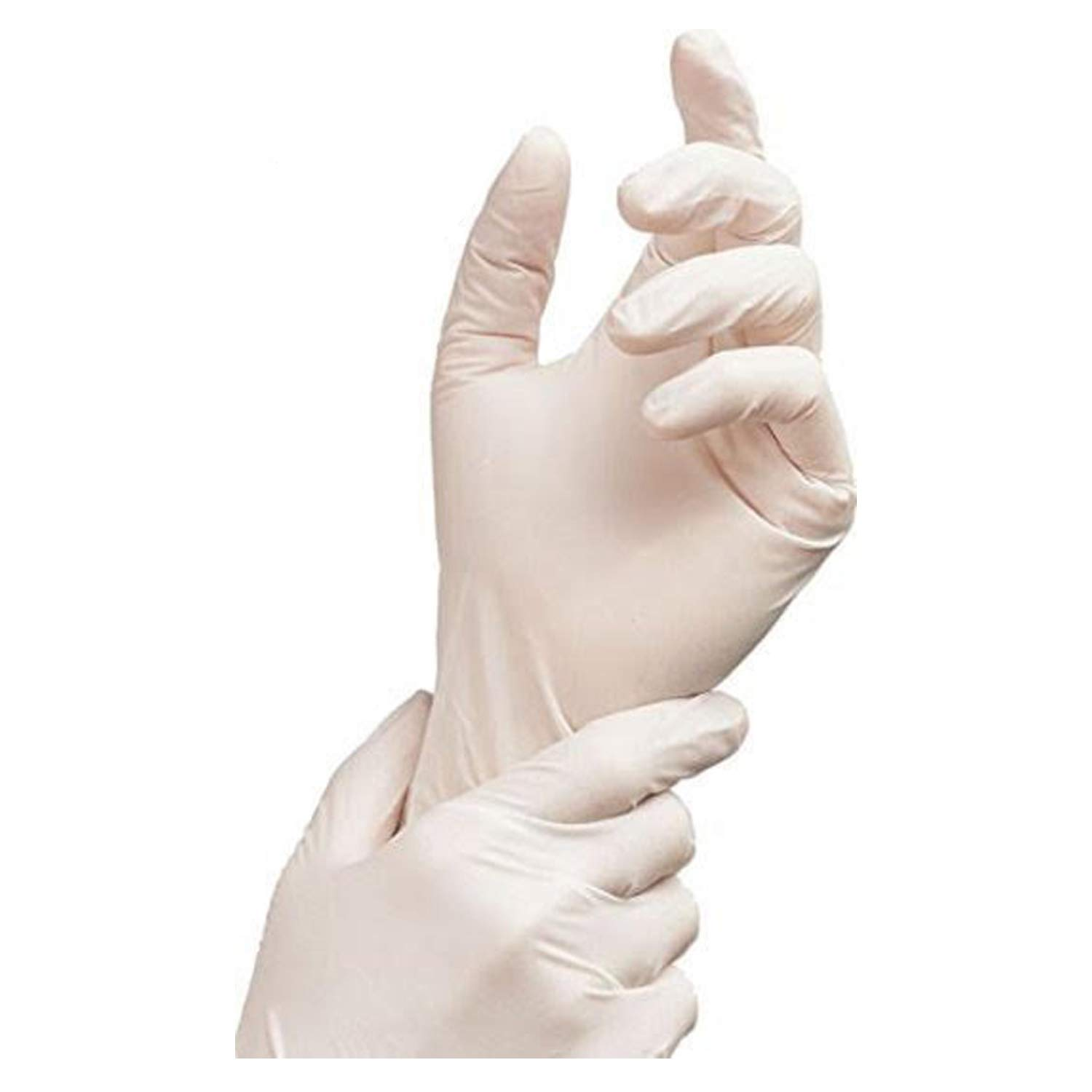 Nitrile Exam Gloves - Medical Grade, Powder Free, Latex Rubber Free, Disposable, Non Sterile, Food Safe, Textured, White Color, 2.5 mil, Convenient Dispenser, Pack of 200, Size Large, AdvanceTouch