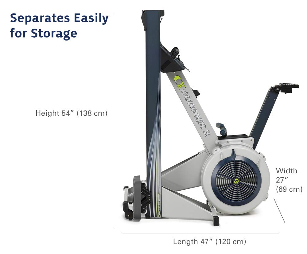 Concept2 Model E with PM5 Performance Monitor Indoor Rower Rowing Machine Gray by Concept2 (Image #6)