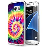 POKABOO Samsung Galaxy S7 Case, Personalized Colorful Skull Anti-Scratch Shock Absorption Slim Fit Clear Case for Samsung Galaxy S7