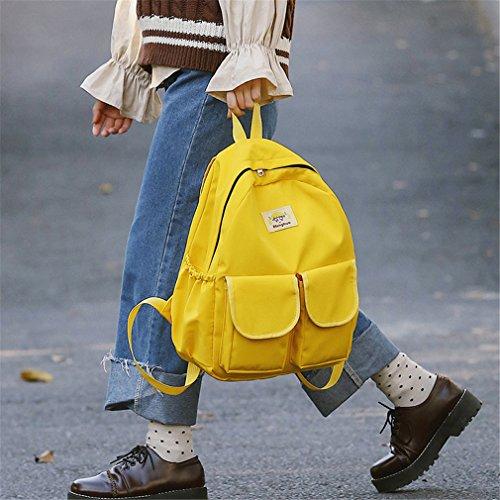 Sac À En Pour Adolescentes Yellow Sac Sac Dames Style Femme Preppy Femmes Tissu L'école Haoling Sacs Filles À Livre Dos Doux Dos D'école 6ZZfwq
