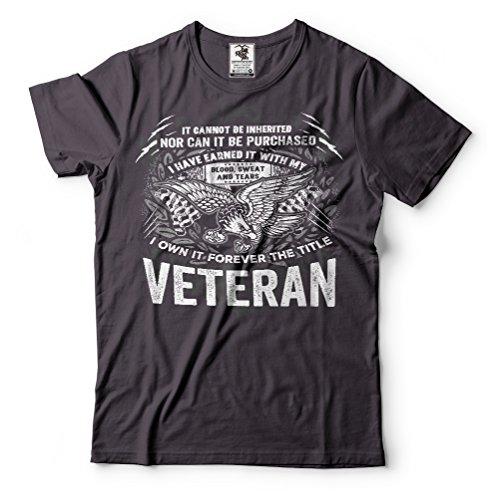 Veteran US army Veteran T-shirt proud Veteran best Gift for Veteran Large Black