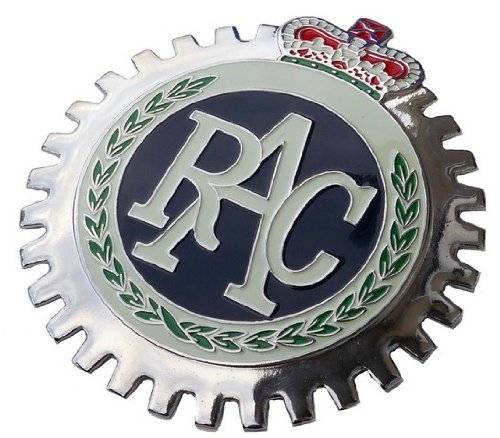 British Royal Automobile Club RAC car grille badge - Royal Automobile Club