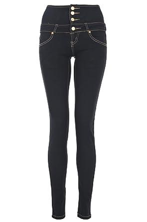 Black high waisted jeans uk