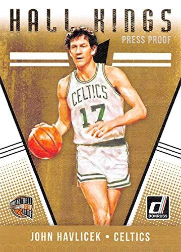 - 2018-19 Donruss Hall Kings Press Proof Basketball Card #17 John Havlicek Boston Celtics Official NBA Trading Card Produced By Panini